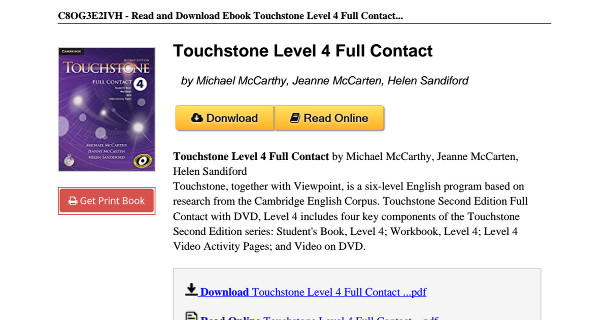 Touchstone level 4 full contact 1107661528pdf google drive fandeluxe Image collections