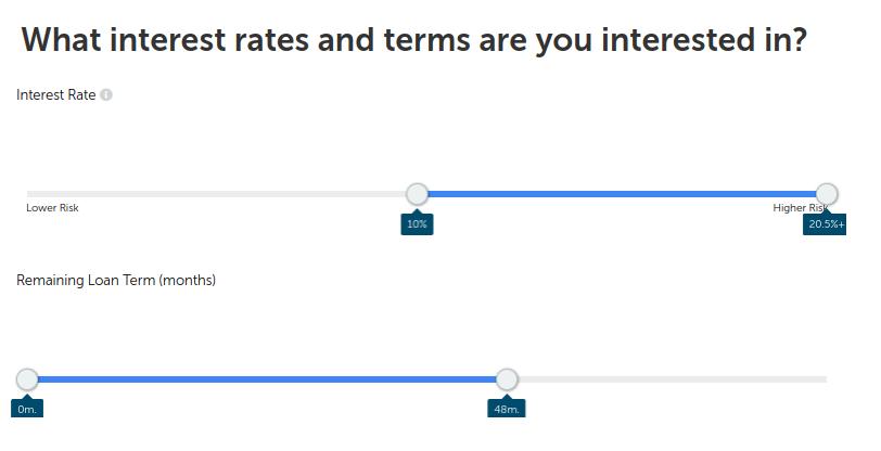Instellen termijn en rentepercentage van de lening