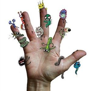 паразиты на теле человека фото