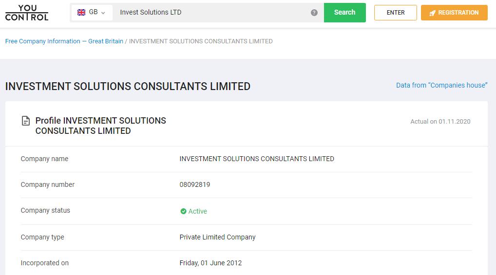 Форекс-брокер Investment Solutions: легенда и факты, отзывы