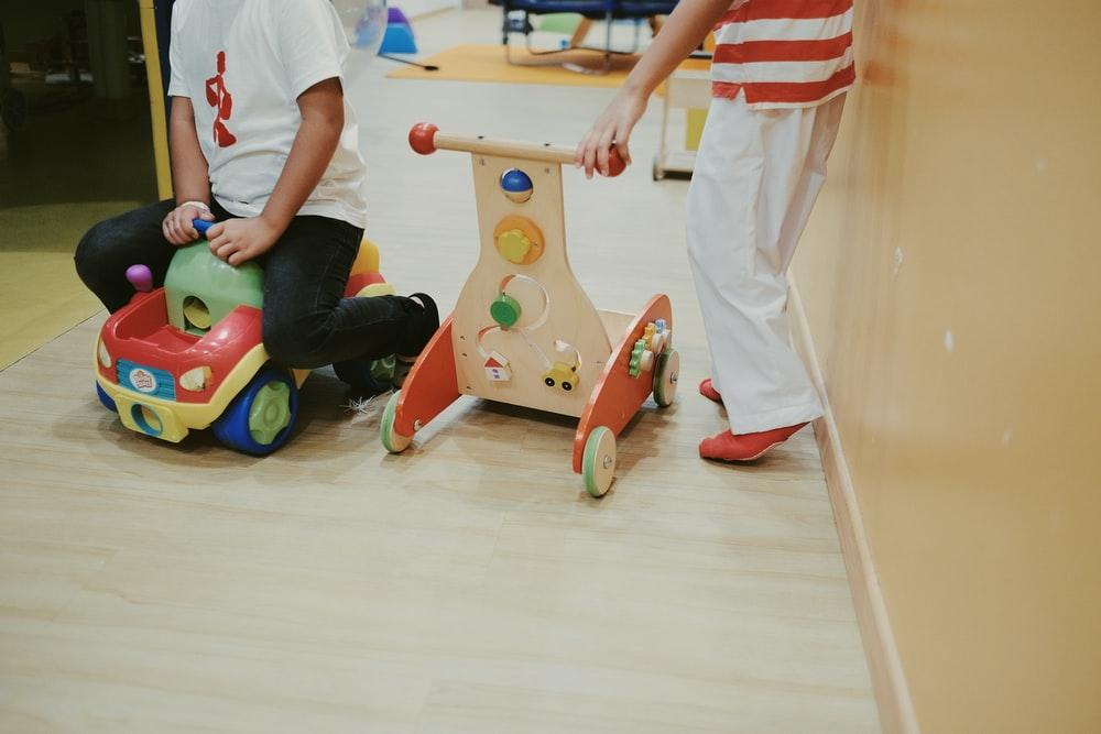 brown-red-and-black wooden toys