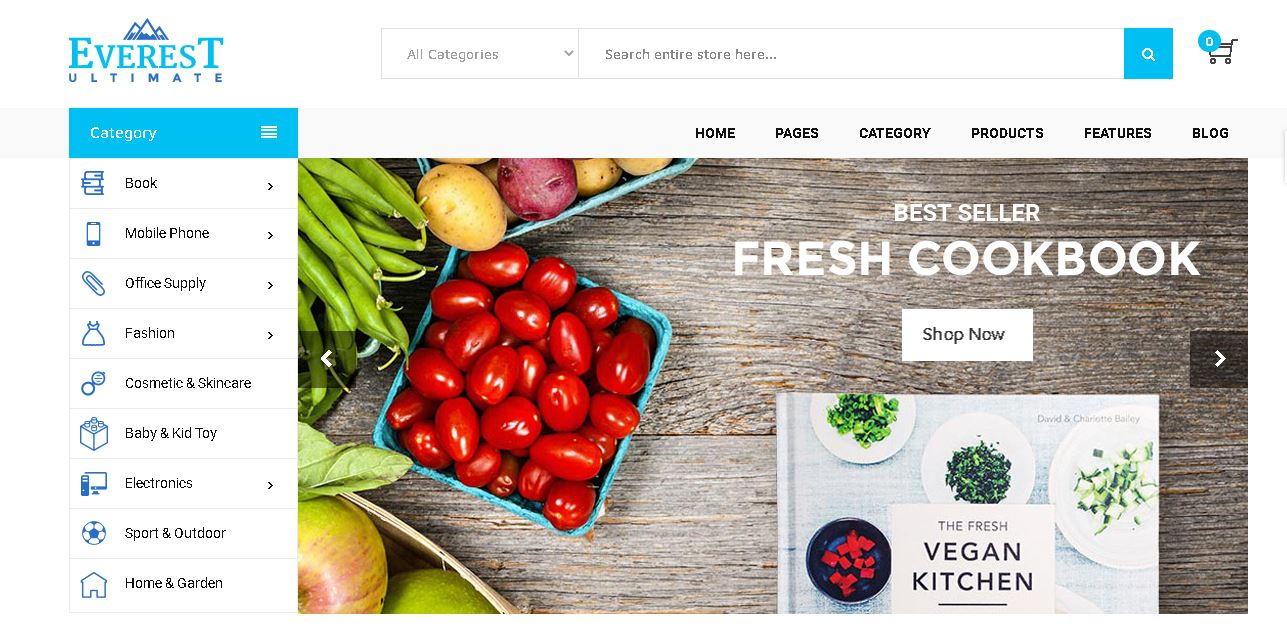 Fruits and vegetables magento theme everest