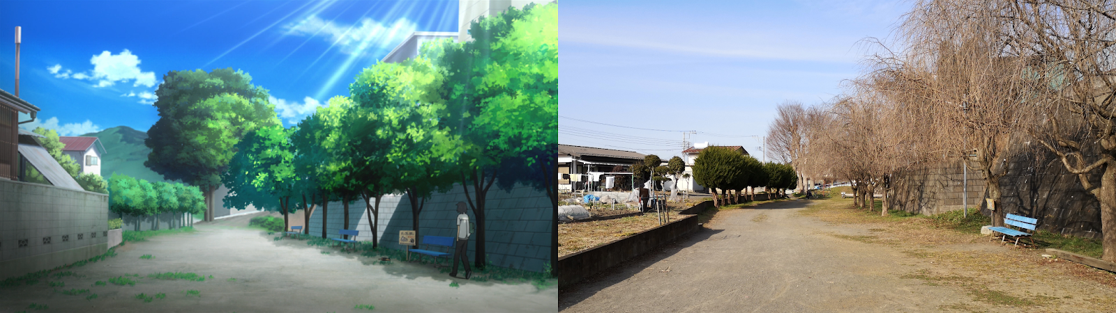 anohana, anime, real life, chichibu