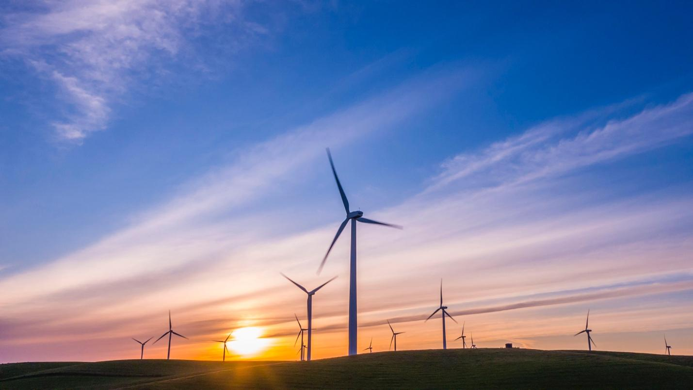 Wind Turbines used for renewable energy   Environmentally friendly and sustainable fashion