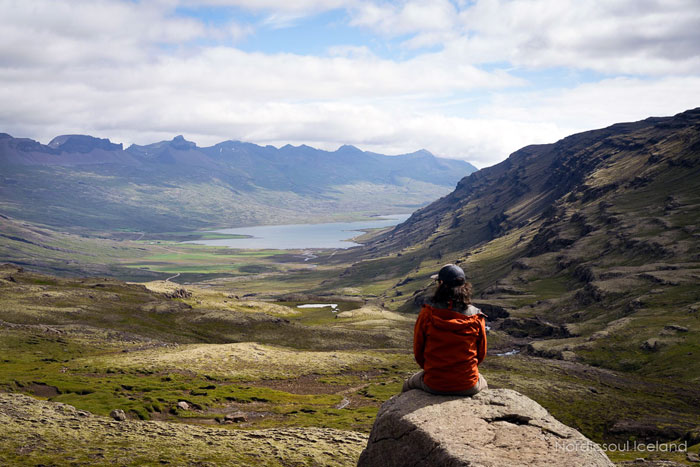 A view on top of a mountain in Iceland's east fjords