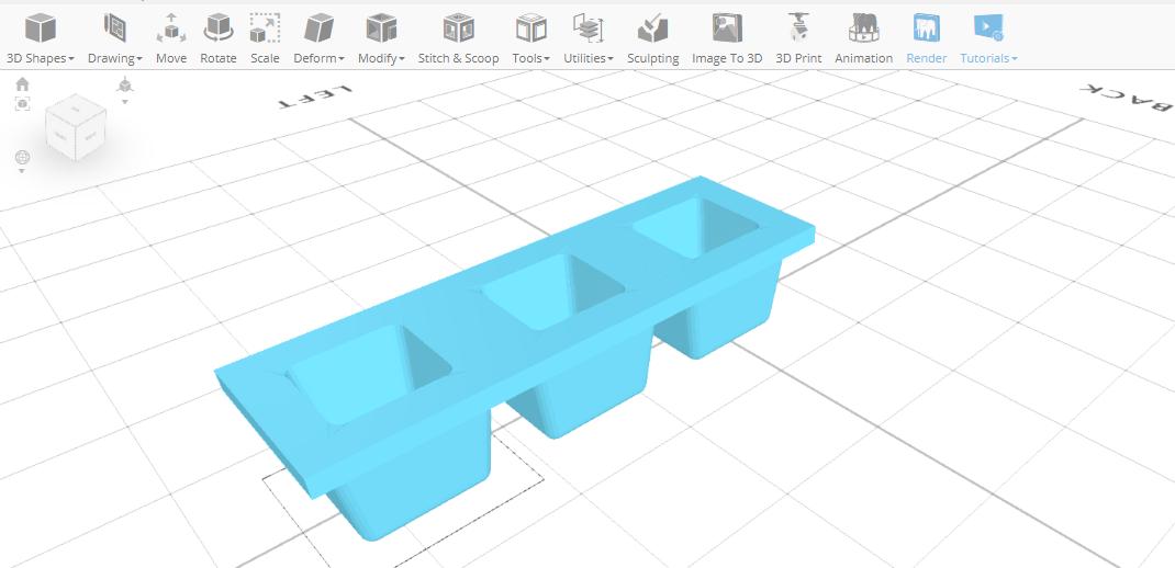 3D designing Ice Tray