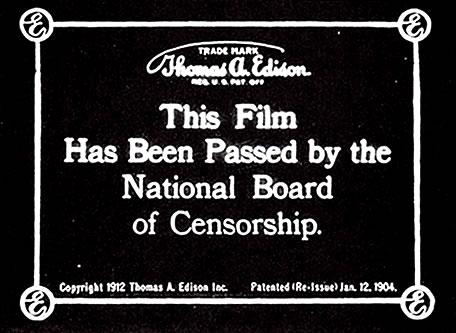 National Board of Censorship seal.