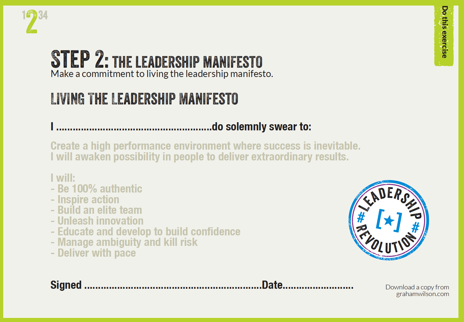 The Leadership Manifesto by Successfactory
