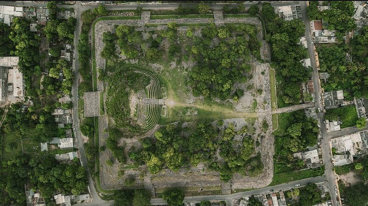 Piramide kinich kakmo foto de drone