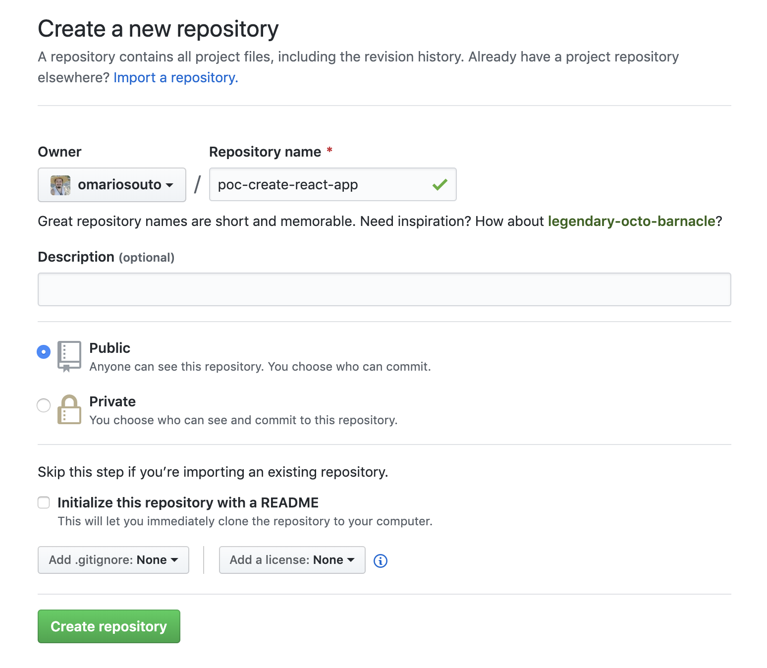 Criando um repositório dentro do GitHub