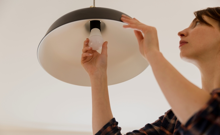 replacing frequently used light bulbs with more energy efficient ones