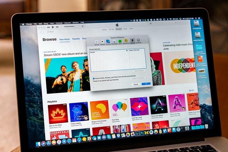 Xóa tệp iTunes và sao lưu iOS