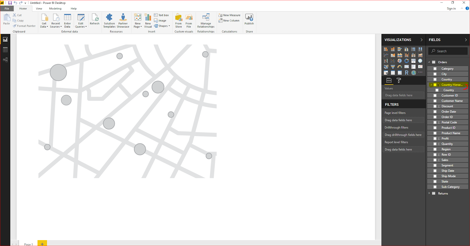 Maps & Hierarchy in Microsoft Power BI 32
