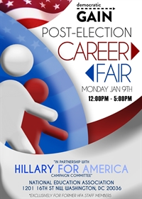 Democratic GAIN and Hillary for America 2017 Post-Election Career Fair