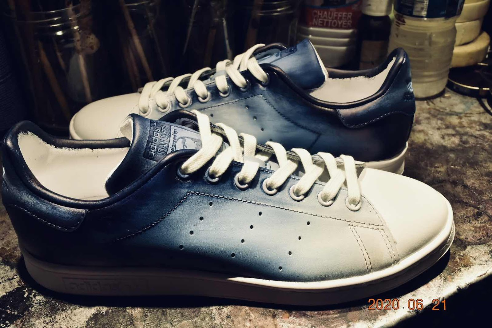 Stan Smith patine bleu Shibori 3