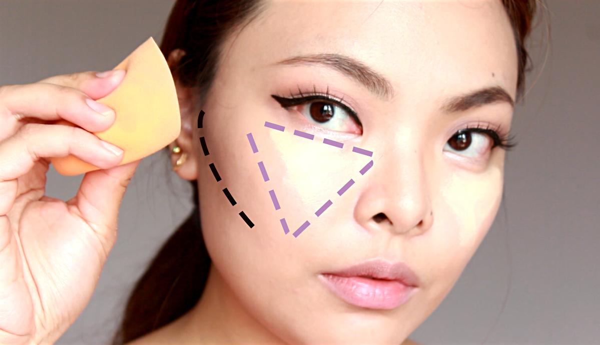 """Tạo một """"hình tam giác"""" kem che khuyết điểm là bí quyết che quầng thâm mắt tối ưu"""