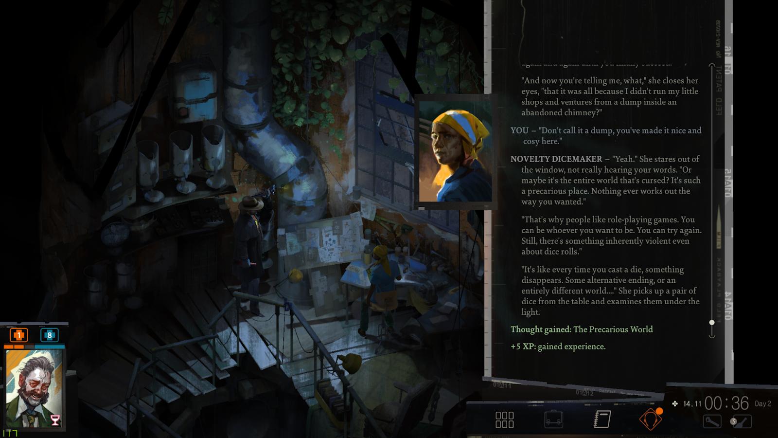 A screenshot of the video game Disco Elysium: Final Cut (ZA/UM)