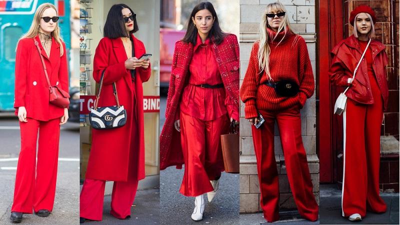 Xu hướng thời trang mới nhất với màu đỏ nham thạch
