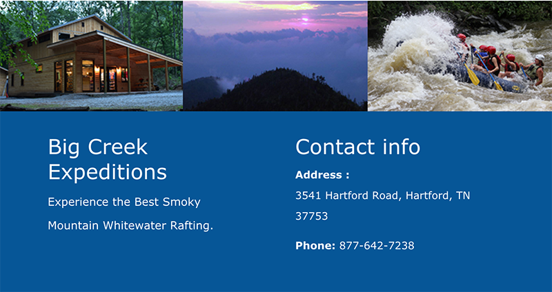 Big Creek Expeditions. Experience the Best Smoky Mountain Whitewater Rafting