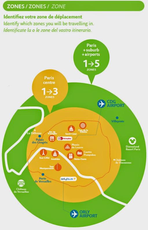 Карту парижского метро и RER