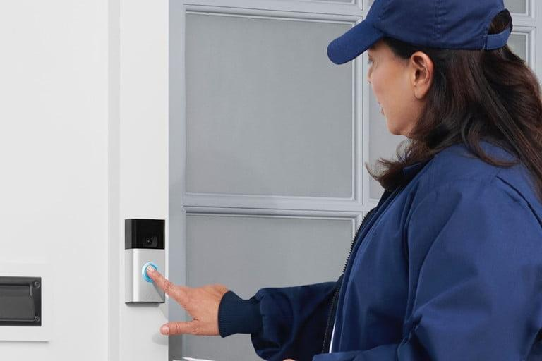 Ring Video Doorbell Gen 2 and mail person