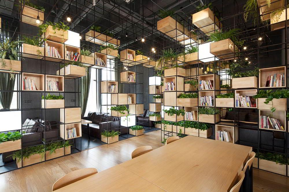 Không gian làm việc nên được trang trí một cách khéo léo và hòa hợp với thiên nhiên