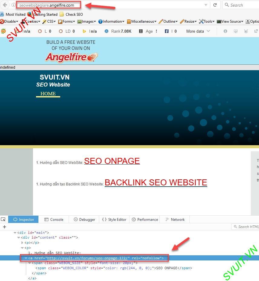 Backlink on angelfire.com (10)