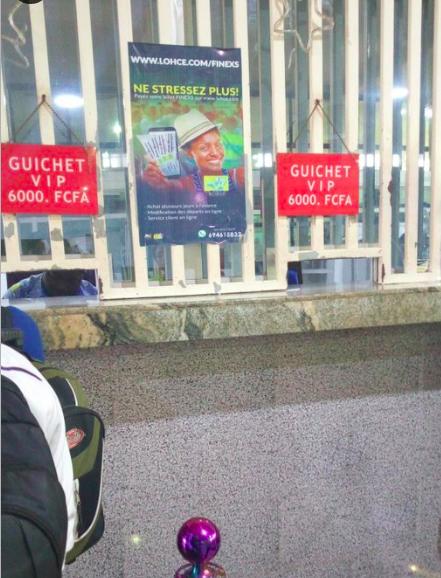 Affiche de LOHCE au niveau du guichet FINEXS de MVAN Yaoundé