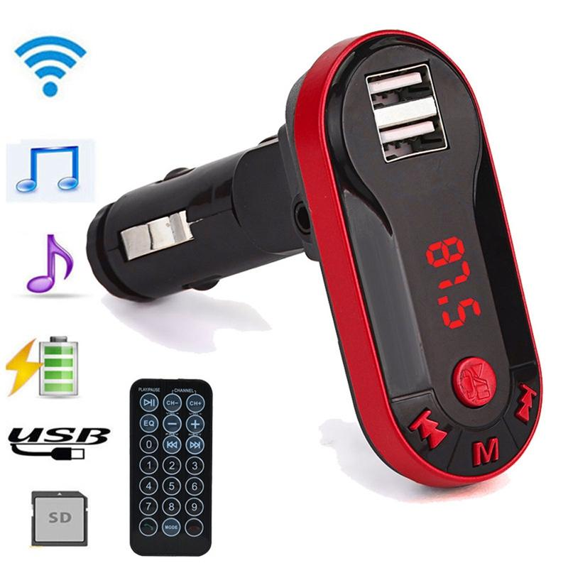 Transmetteur FM sans fil multifonction universel Lecteur MP3 Kit mains libres mains libres USB TF SD www.avalonkef.com.jpg