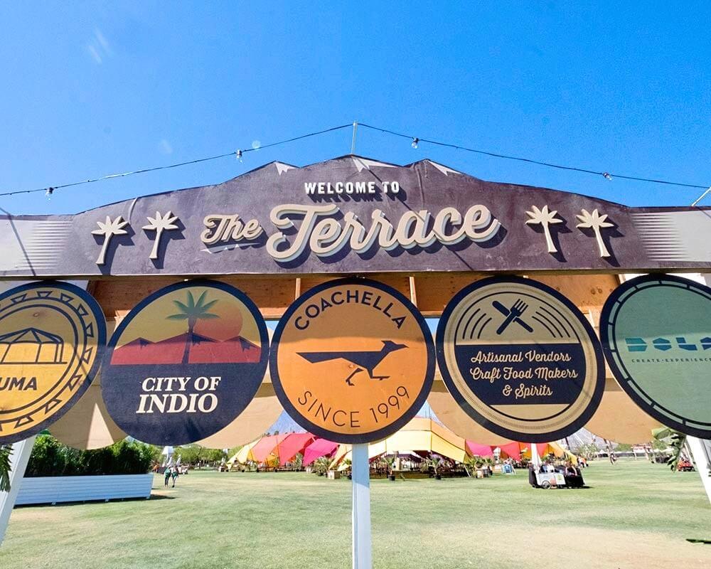 entrance event signage