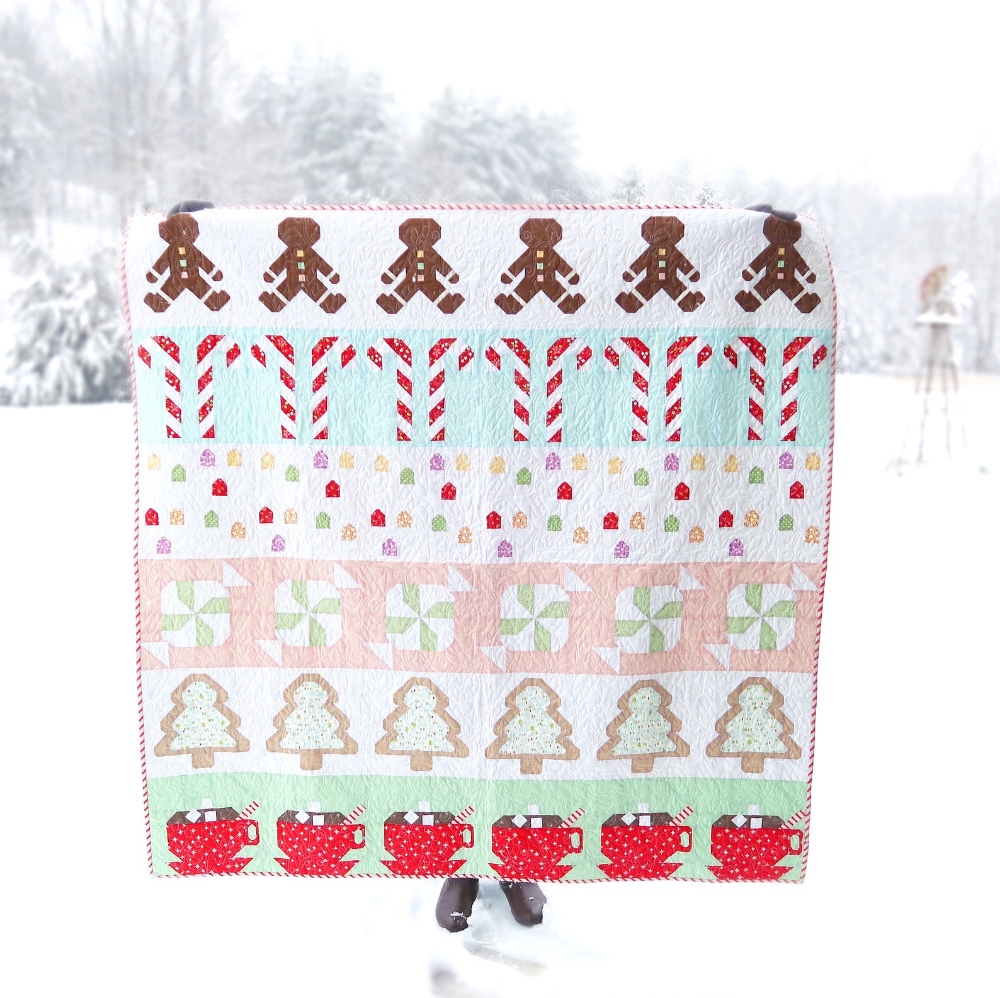 Gingerbread House Christmas Candy Row Quilt