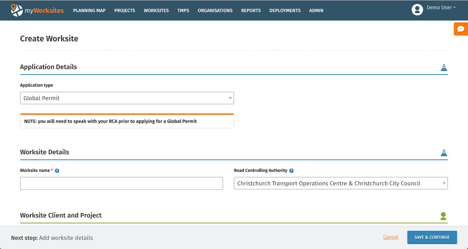 MyWorksites Support Portal