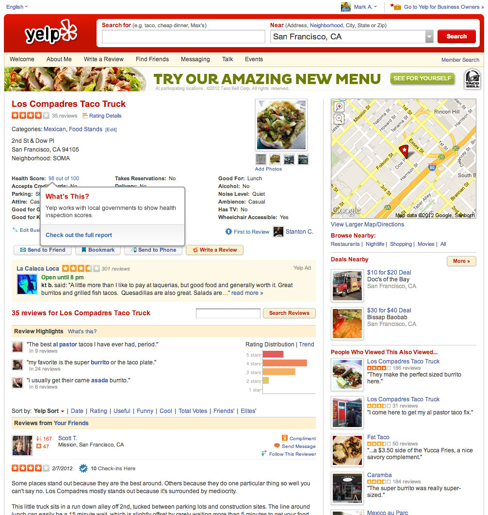 Yelp Scores For Nyc Restaurants Data