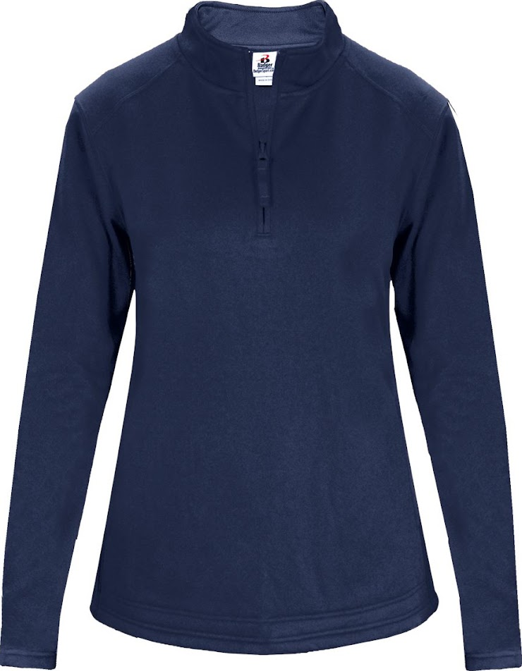 This navy, feminine cut, polyester, fleece lined, 1/4 zip pullover may be worn by 5th-12th grade girls in the classroom. PCS academic logo embroidered on the front left of the garment. No youth sizes available. If you are desiring to order more than one garment in any particular size, please indicate that in the comment area at the bottom of this order form. Cost: $49.00