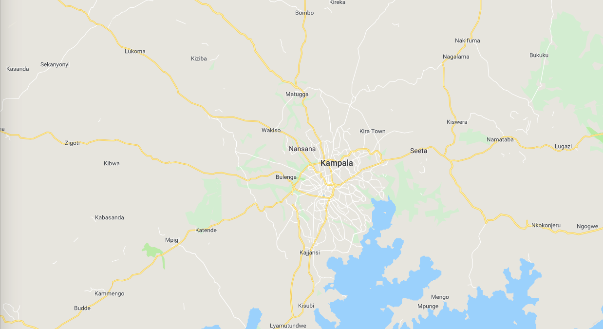 Largely unmapped area of Kampala, Uganda