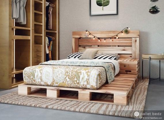 Full-Size Pallet Bed Frame