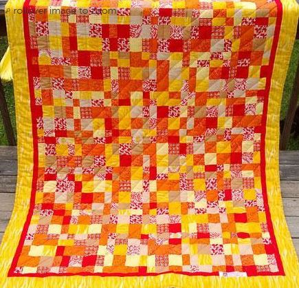 Colorful Charm Pack Quilt