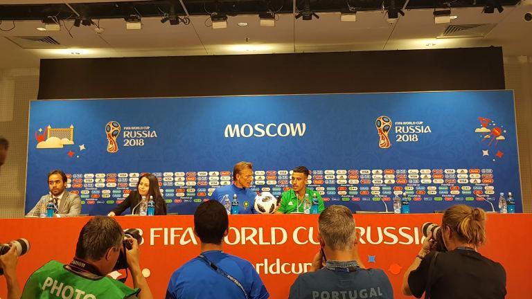 C:\Users\Carla\Desktop\Copa do Mundo 2018 - RUSSIA\Marrocos Fotos\Marrocos x Portugal\Herve Renard  e Nabil Dirar durante coletiva de imprensa  Foto Getty Images FIFA.jpg