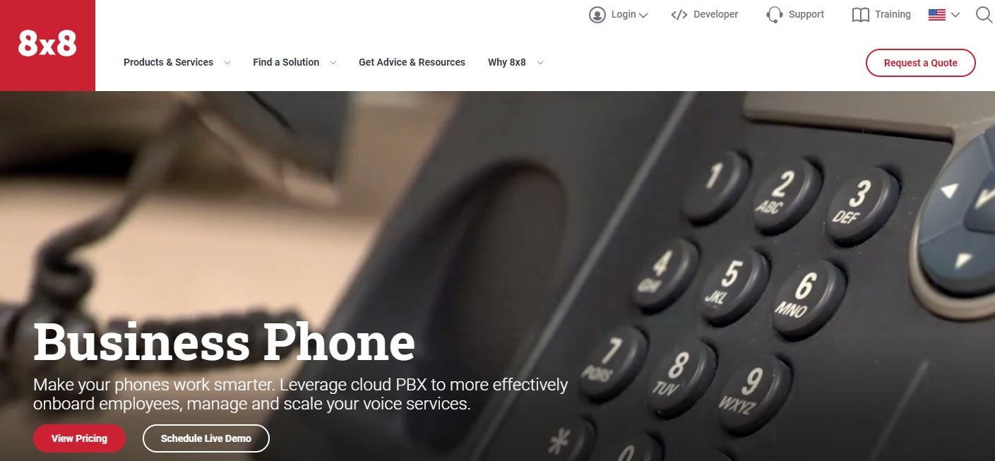 8x8 is one of the Small Business Phone Services