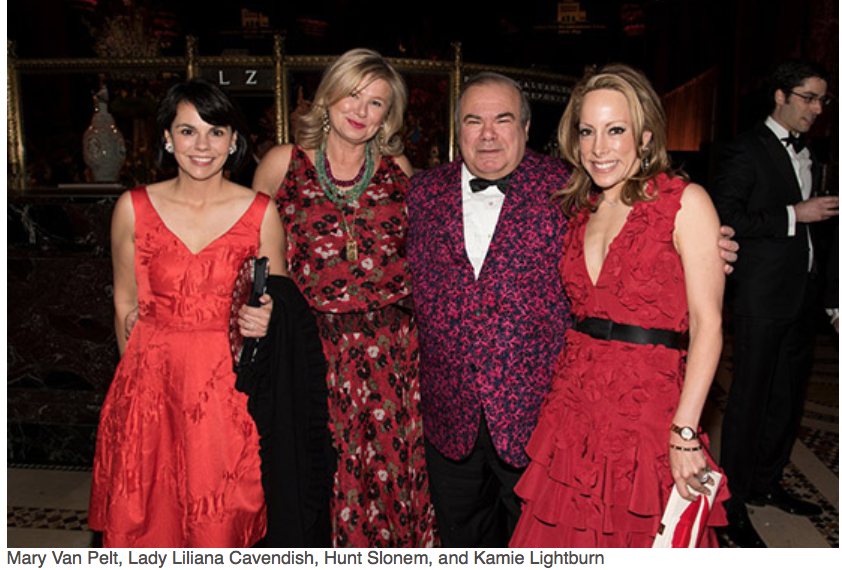 Karen Klopp, Hilary Dick article for New York Social Diary, What to wear to a black tie gala for Lenox Hill Neighborhood Association.    Mary Van Pelt, Lady Lilana, Hunt Slonem,Kamie Lightbum.