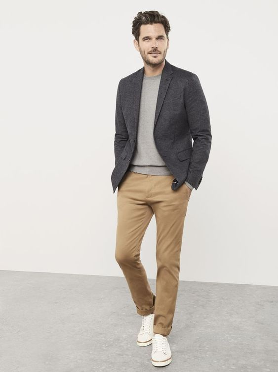man in business casual outfit