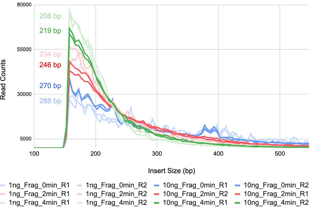 Figure 4. Insert size distribution