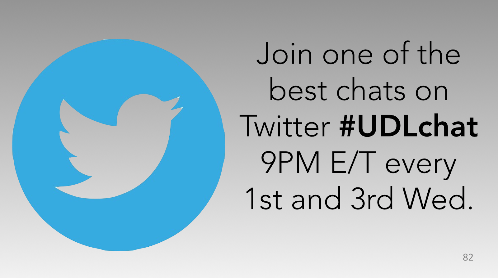 Twitter chat #UDLchat 9 PM E/T every 1st & 3rd Wednesday