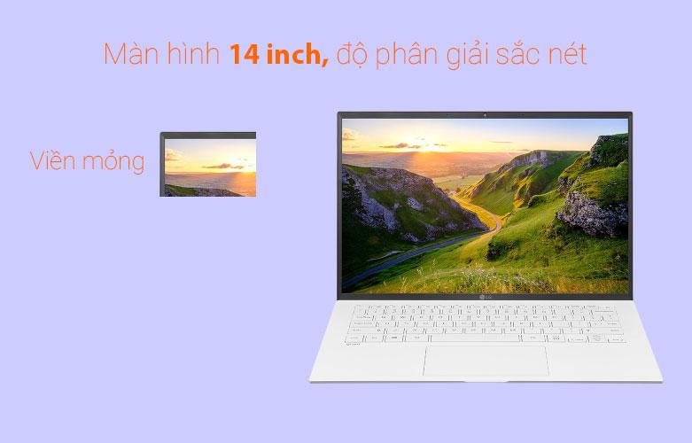 Laptop LG Gram 2021 14ZD90P-G.AX51A5 (i5-1135G7) (Trắng) | Màn hình 14 inch sắc nét