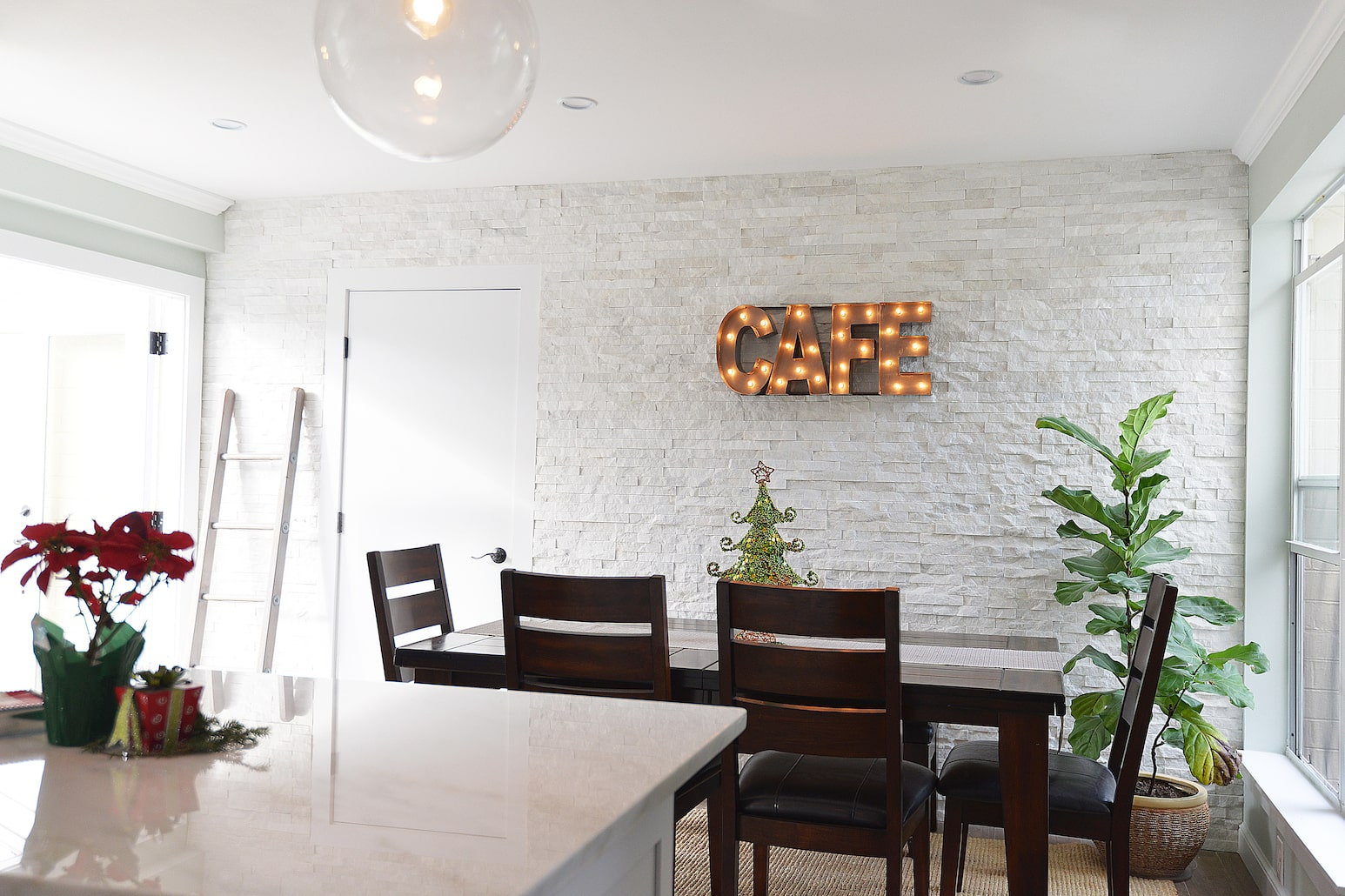 All White Accent Wall But Remarkably Gorgeous