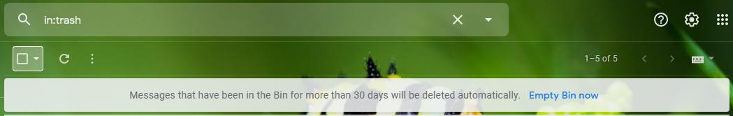 One-click Delete button