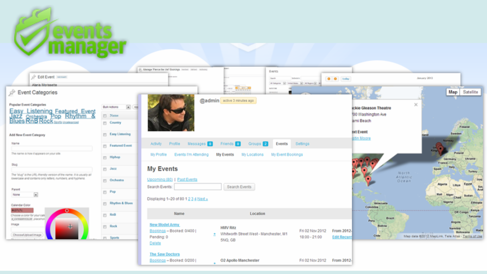 Events Manager WordPress events plugins