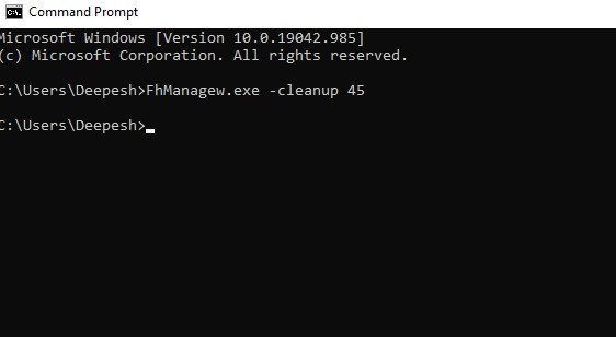 open a Command Prompt window