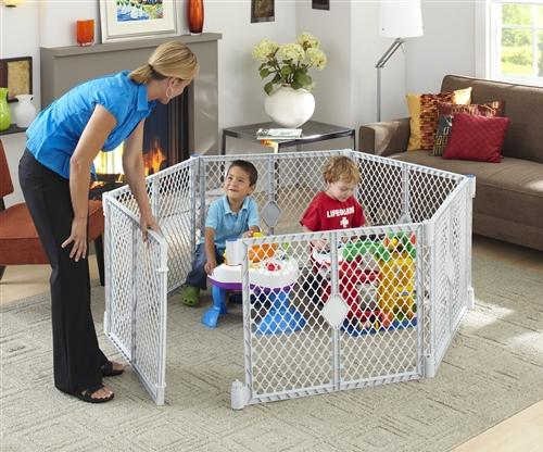 creating safe play area for baby to play