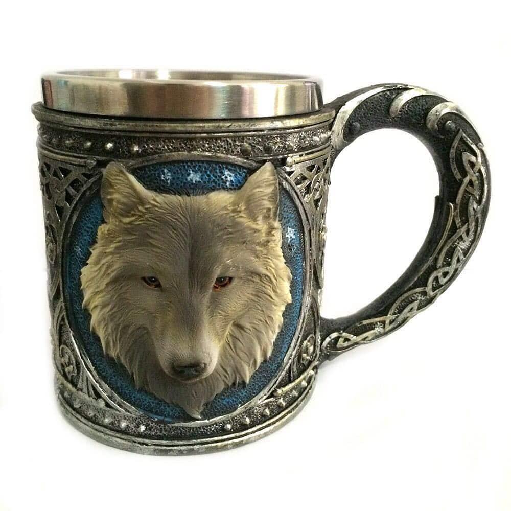 mug wolf mug cutlery decor home decor dropshipping shopify dropshipping aliexpress dropshipping